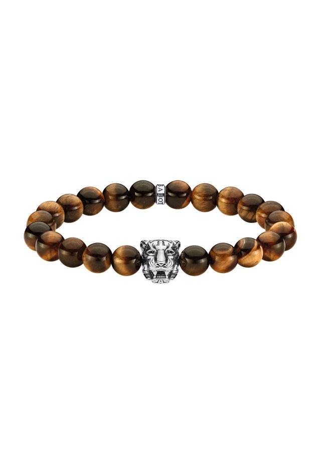 ARMBAND 925 STERLINGSILBER, GESCHWÄRZT - Armband - schwarz, silberfarben, braun