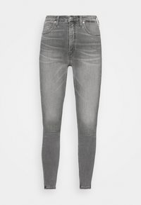 HIGH RISE SUPER SKINNY ANKLE - Jeans Skinny Fit - denim black