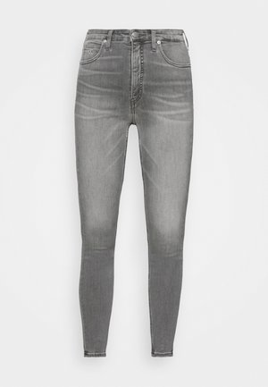 HIGH RISE SUPER SKINNY ANKLE - Skinny džíny - denim black