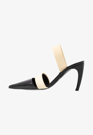 High heels - nero/cream