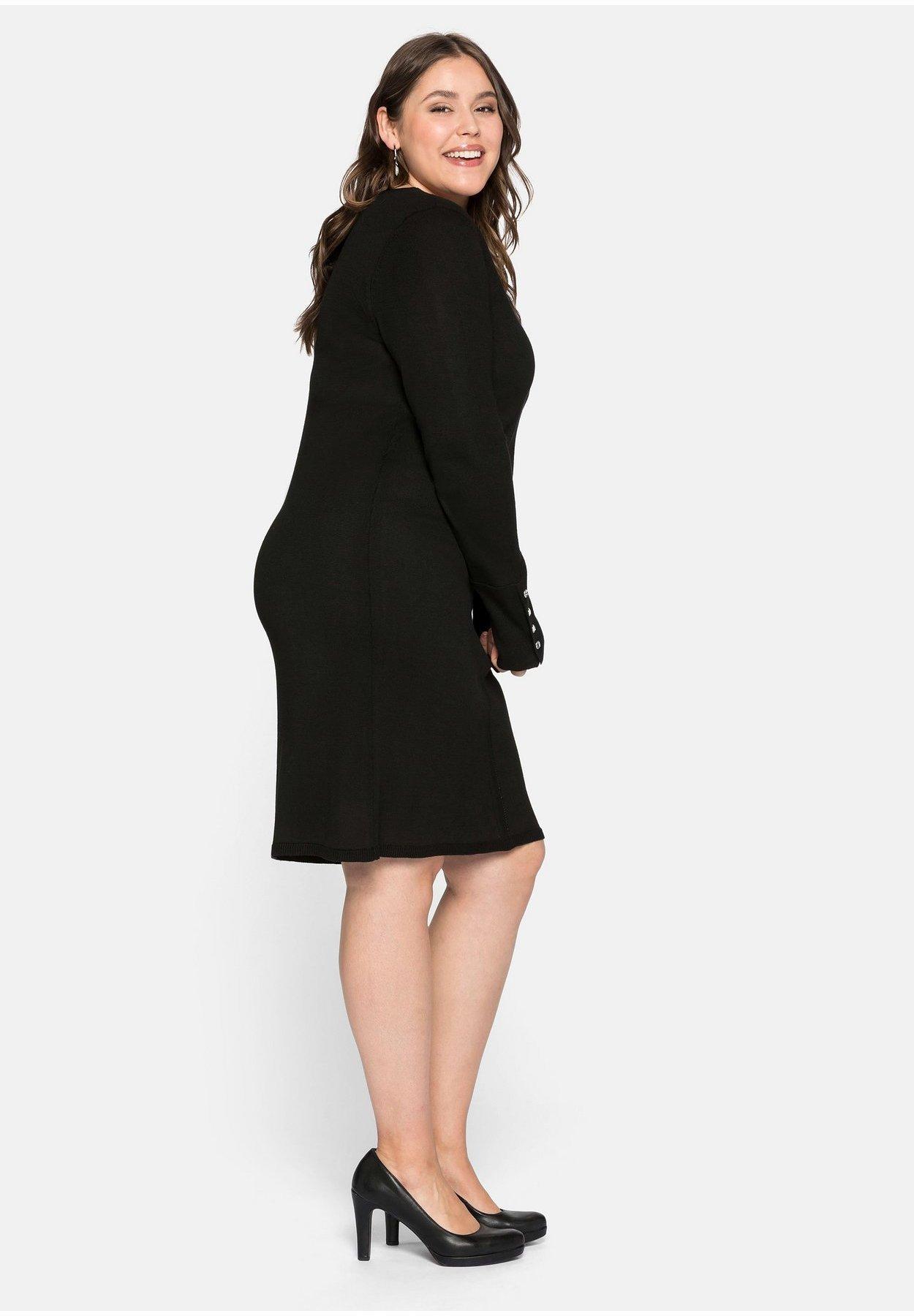 Sheego Jerseykleid schwarz
