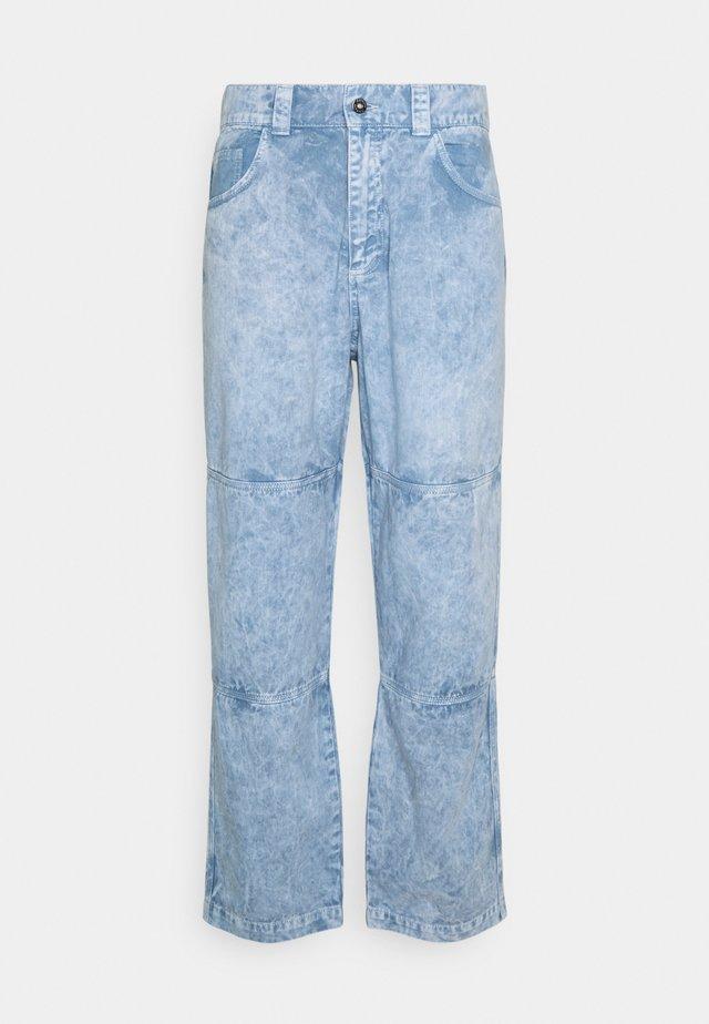 SPLATTER DRILL PANT - Pantalon classique - blue