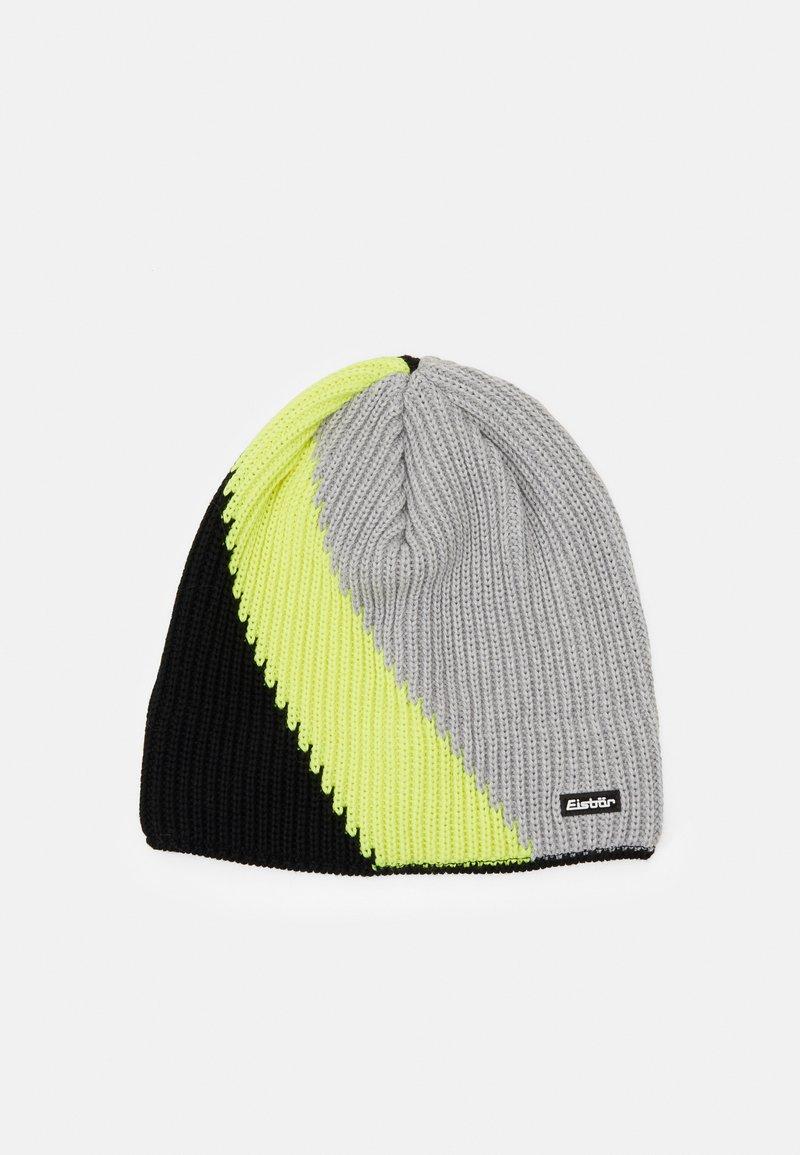 Eisbär - TRACK - Beanie - schwarz/gelb/hellgraumeliert
