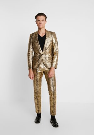BRAGA SUIT SKINNY FIT - Costume - gold