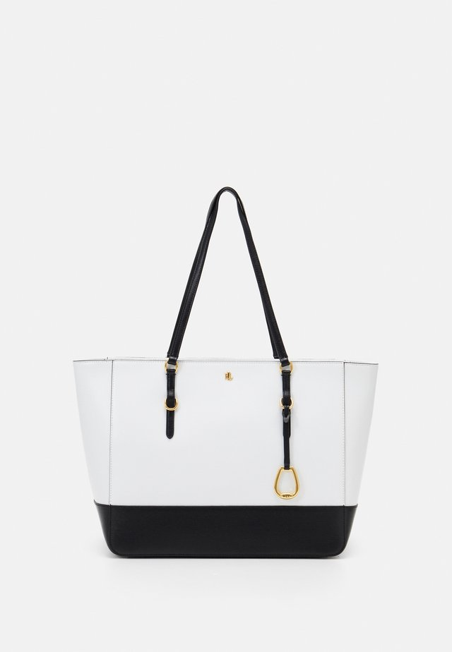 TOTE TOTE MEDIUM - Handbag - optic white/black