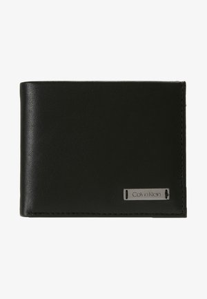 SMOOTH PLAQUE SLIMFOLD - Portemonnee - black