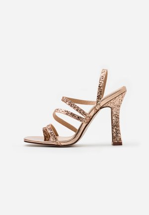 MINTY - High heeled sandals - rose gold glitter