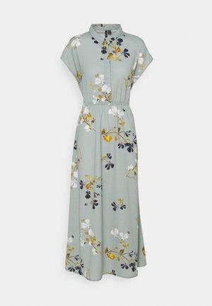 VMHALLIE LONG TIE DRESS - Maxi dress - green milieu