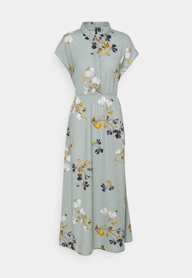 Vero Moda Tall - VMHALLIE LONG TIE DRESS - Maxi dress - green milieu