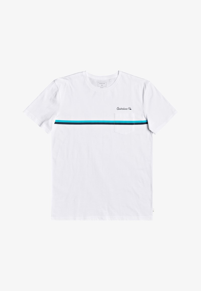 Quiksilver - HIGH PIPED  - Basic T-shirt - white