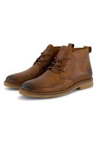Travelin - Lace-up ankle boots - cognac - 4