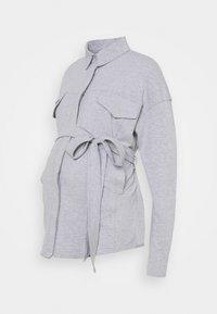 Missguided Maternity - BELTED EMBROIDERED - Košile - grey marl - 0
