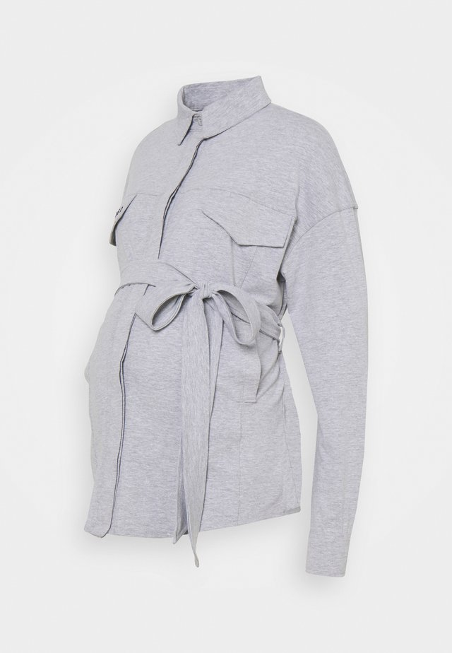 BELTED EMBROIDERED - Chemisier - grey marl