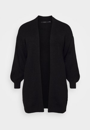 VMTUFURN BALLOON OPEN CARDIGAN - Strikjakke /Cardigans - black