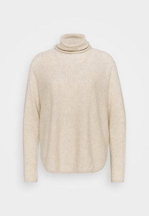 CURVED TURTLENECK - Jumper - light beige