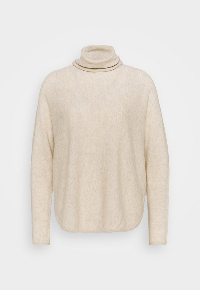 CURVED TURTLENECK - Strickpullover - light beige