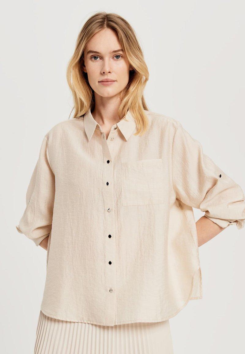 Opus - Button-down blouse - beige