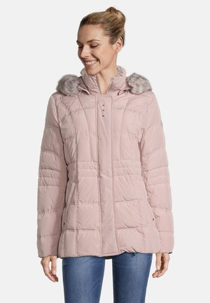 MIT ABNEHMBARER KAPUZE - Down jacket - deauville mauve