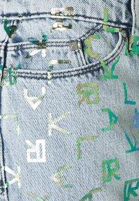 KARL LAGERFELD - TETRIS - Džíny Straight Fit - blue denim - 2