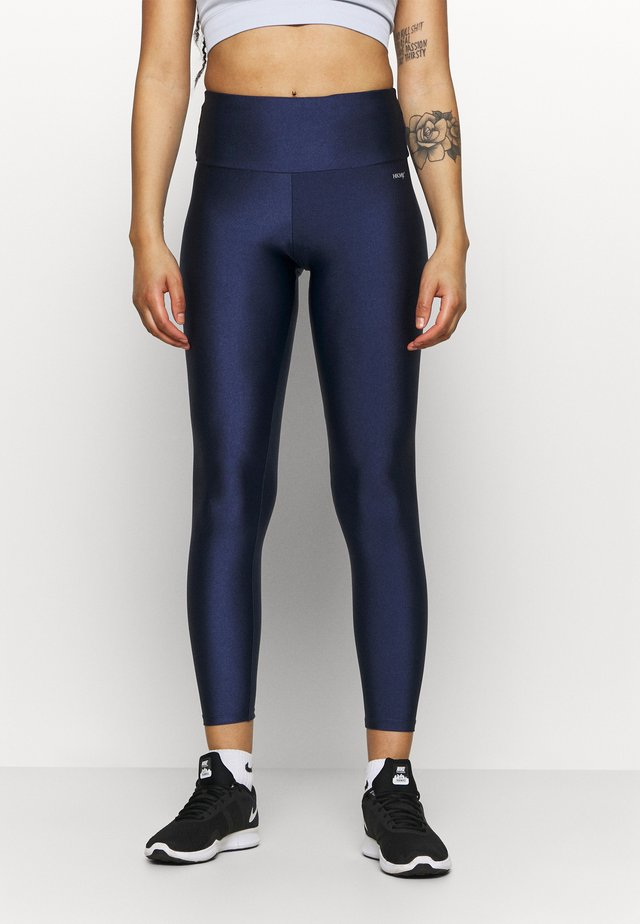 SHINE ZIP LEGGING - Collant - medieval blue