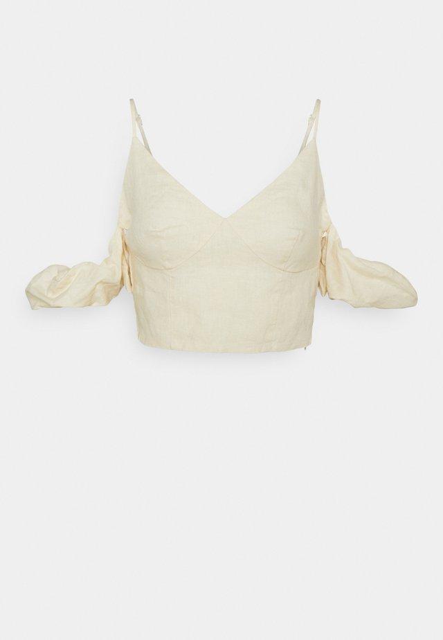 DROPPED SHOULDER  - Top - light beige