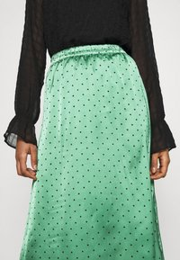 JDY - JDYDOTTIE SKIRT - Maxi skirt - loden frost/eclips dots - 5