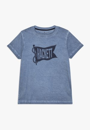 FLAG - Print T-shirt - pebble blue