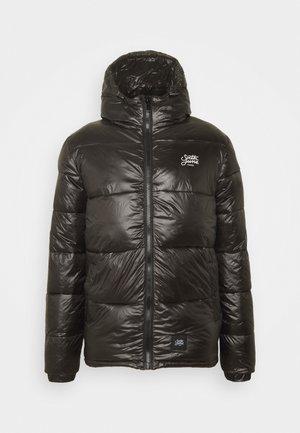 WITH HOOD - Zimní bunda - black