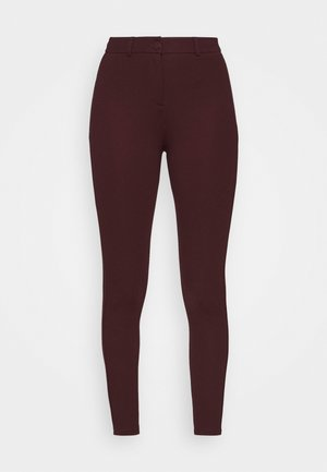 BUTTON TREGGING - Leggings - Trousers - red