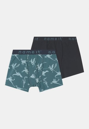 NKMBOXER 2 PACK - Boxerky - real teal