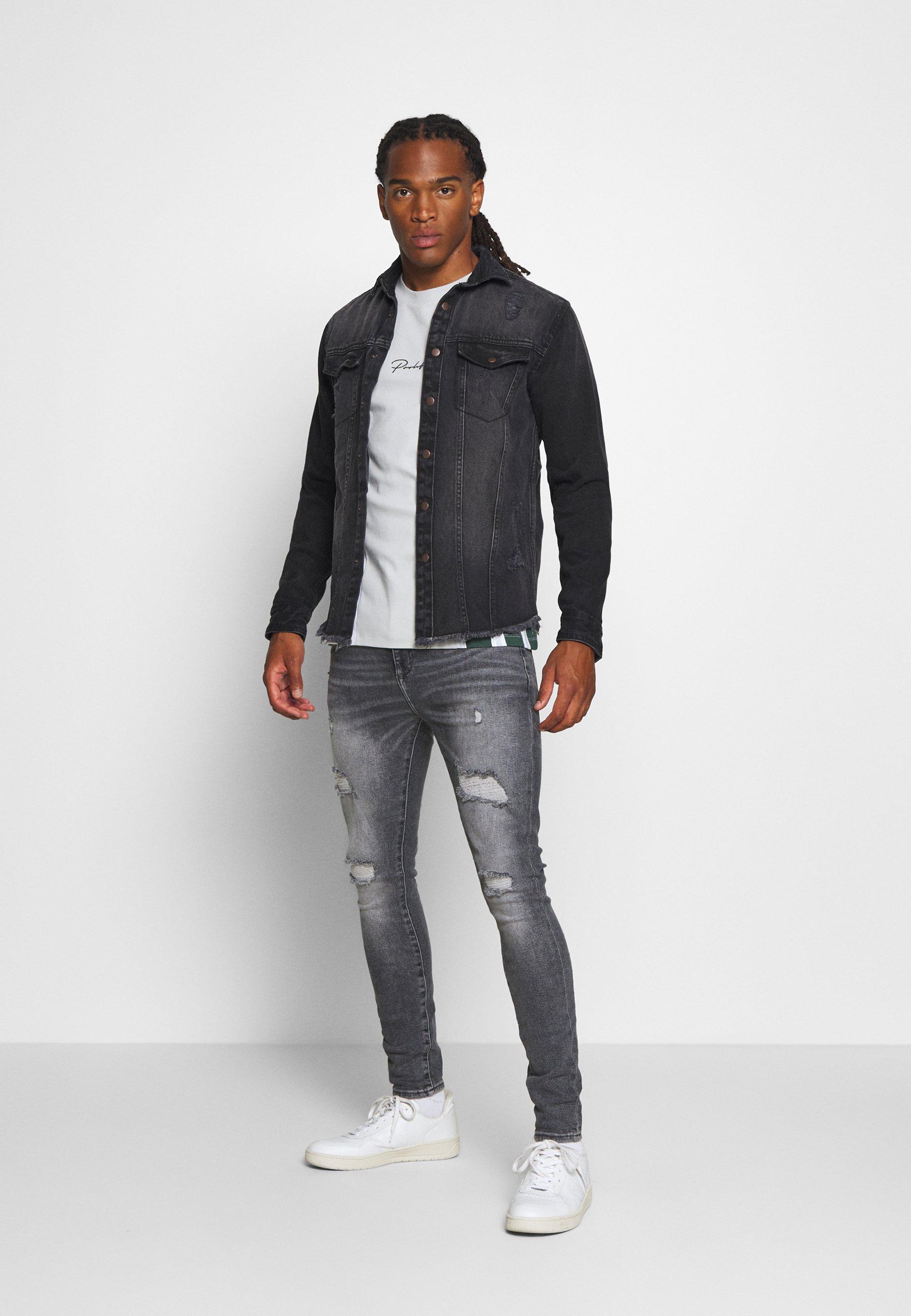 Redefined Rebel Jackson Jacket - Skjorte Black/grey/grå Denim