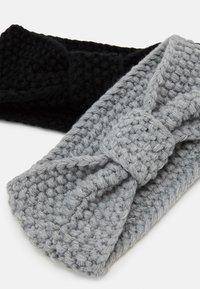 Even&Odd - 2 PACK - Ear warmers - black/grey - 2
