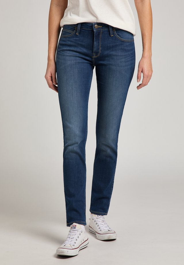 ELLY - Jeans slim fit - dark len