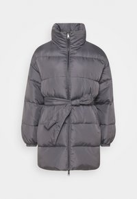 Who What Wear - ZIP FRONT PUFFER JACKET - Winter jacket - slate - 5