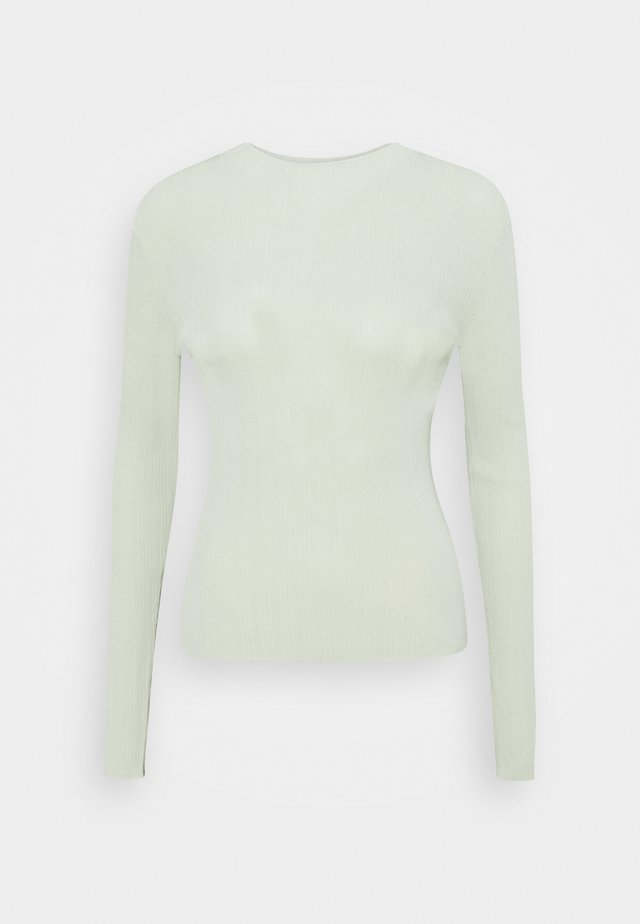 MARIE MOCK NECK - Sweter - fog green