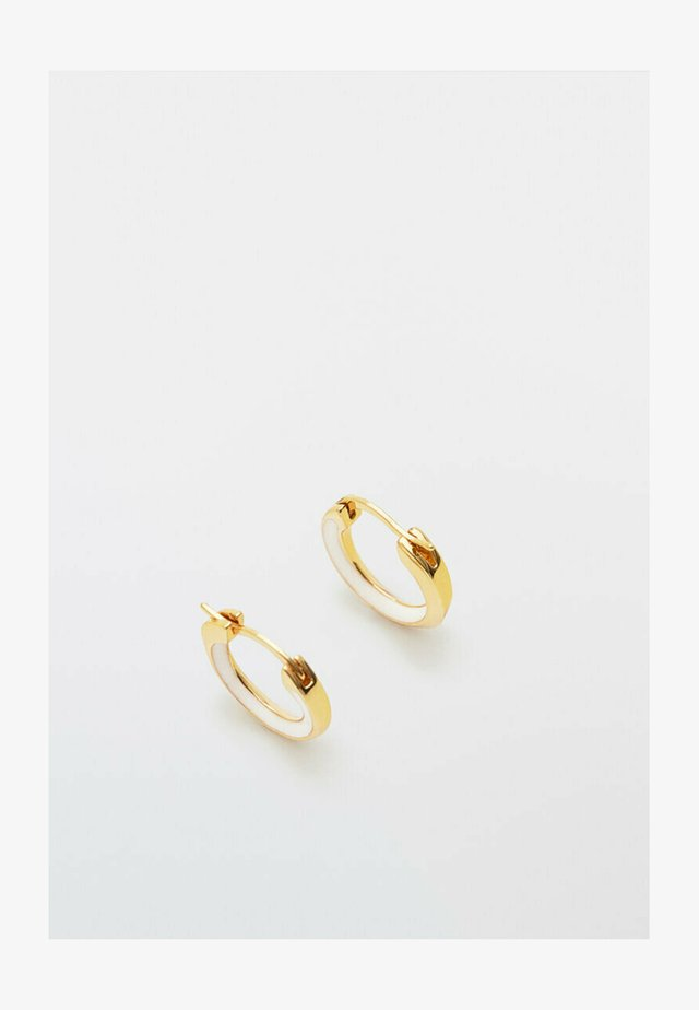 MIT WEISSER EMAILLE  - Earrings - gold