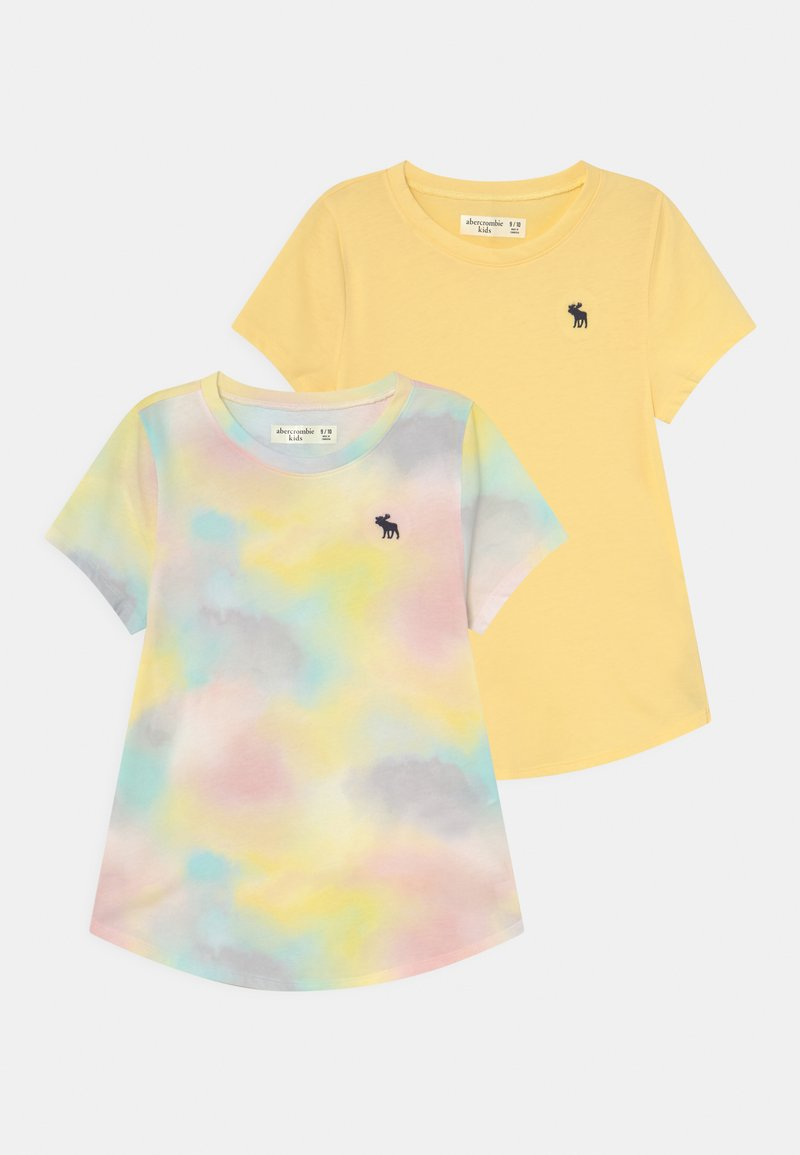 Abercrombie & Fitch - 2 PACK - T-Shirt print - yellow