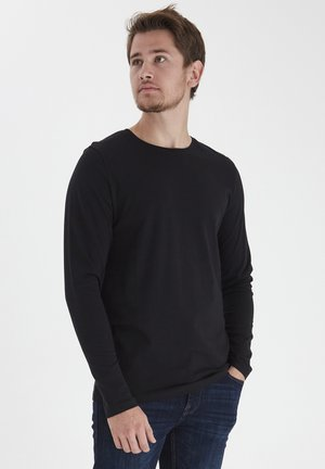 THEO LS  - Long sleeved top - anthracite black