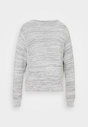 PABONE - Strikkegenser - iron grey melange