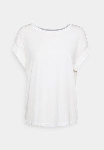 ROUNDNECK TURN UP SLEEVE - Basic T-shirt - scandinavian white