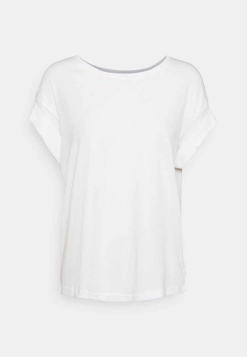 Marc O'Polo DENIM - ROUNDNECK TURN UP SLEEVE - Basic T-shirt - scandinavian white