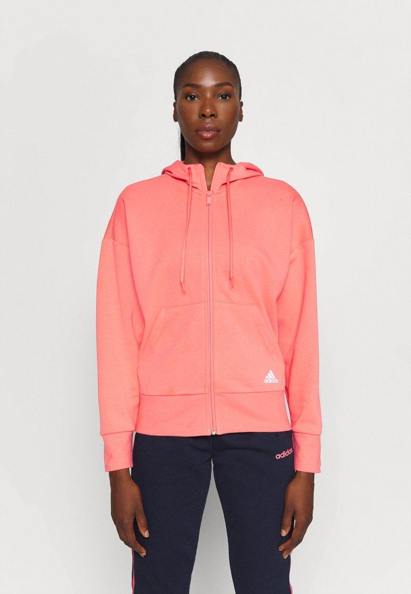 adidas Performance - Zip-up hoodie - coral