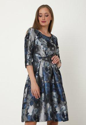 AHNA - Cocktail dress / Party dress - silbrig/blau