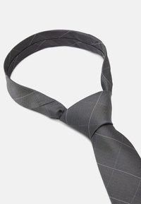 Calvin Klein - LARGE NETTED GRID TIE - Tie - grey - 1