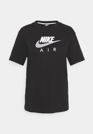 AIR  - T-shirt con stampa - black/white
