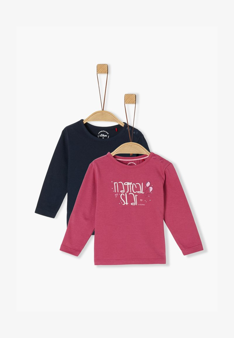 s.Oliver - Long sleeved top - pink/navy