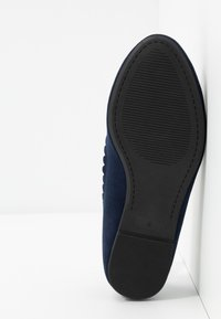 Dorothy Perkins Wide Fit - WIDE FIT PIPPASCALLOP ROUND TOE  - Ballet pumps - navy - 6
