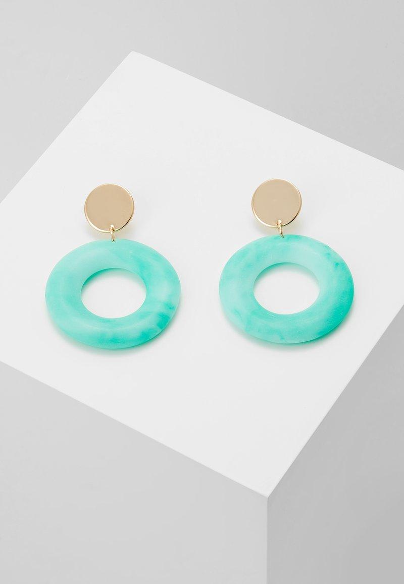 Topshop - PASTEL DROP - Boucles d'oreilles - turquoise