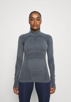 MOMENTUM 1/2 ZIP - Long sleeved top - charcoal grey heather