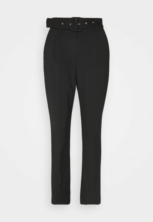 SLFJOSE CROPPED PANT EX - Trousers - black